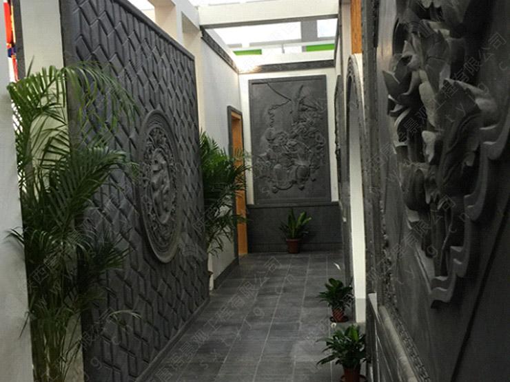 室内砖雕走廊装饰