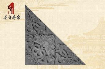 唐语砖雕新品影壁照壁墙面角花配件龙纹角花TY-S243