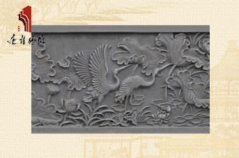 唐语陕西砖雕荷花线条TY-S134