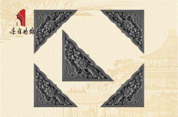 唐语砖雕中式墙面装饰配件荷花角花砖雕|TY-S231