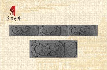 唐语砖雕中式装饰线条子孙万代砖雕|TY-S181