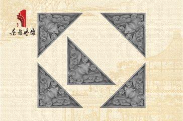 唐语砖雕新品影壁照壁墙面角花装饰配件蝙蝠角花|TY-S203