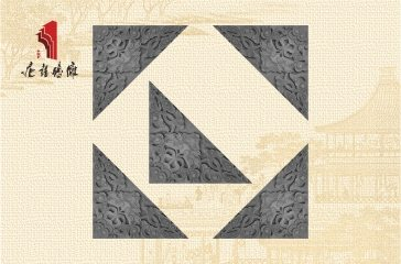 唐语砖雕新品影壁照壁墙面角花配件龙纹角花|TY-S243
