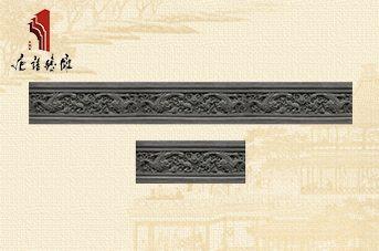 唐语砖雕踢脚线仿古腰线边框线条事事如意|砖雕TY-S122