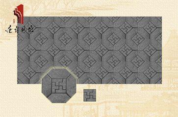 砖雕厂仿古墙面室内外装修万字纹青砖组合|TY-QD072