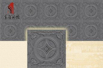 砖雕厂家仿古砖墙面青砖装修|铜钱砖TY-QD271