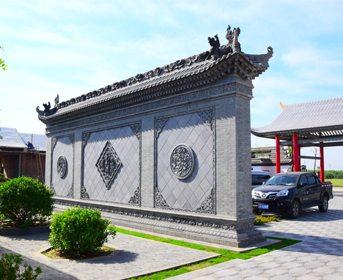 唐语砖雕室外照壁影壁墙