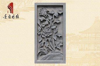 唐语国色天香的牡丹砖雕TY-GY168古建砖雕厂家
