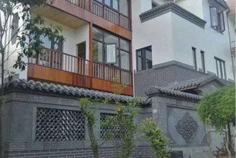 浙江古典中式风格四合院别墅砖雕装修