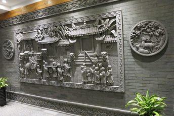陕西唐语砖雕室内照壁影壁墙背景墙