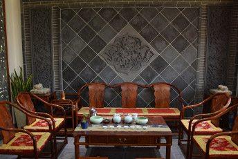 陕西唐语室内照壁影壁墙实景